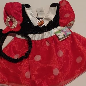Baby Minnie Mouse costume dress 12-18 M